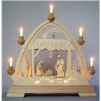 Gothic arch with holy family  42,5x40x7 cm