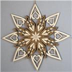 Decoration 5 layers star round